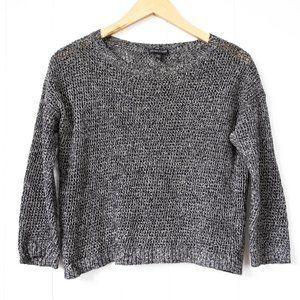 Eileen Fisher Linen / Wool Blend Short Sweater Med